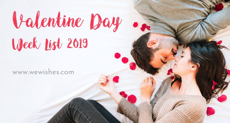 Happy Valentine Day Week List 2019
