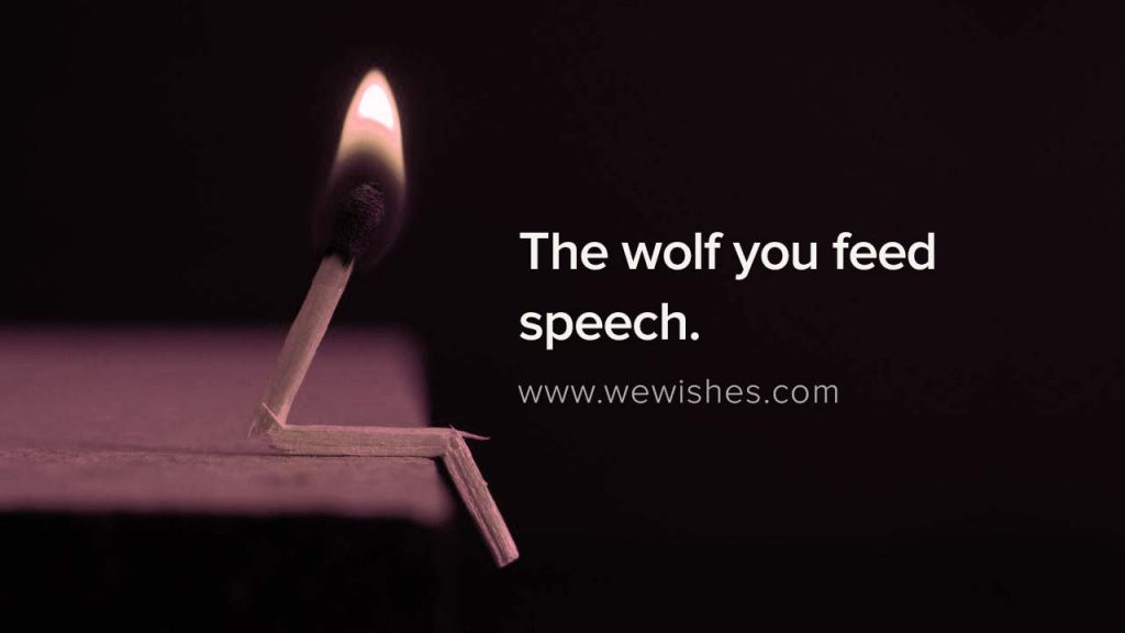 The wolf you feed speech, nofap