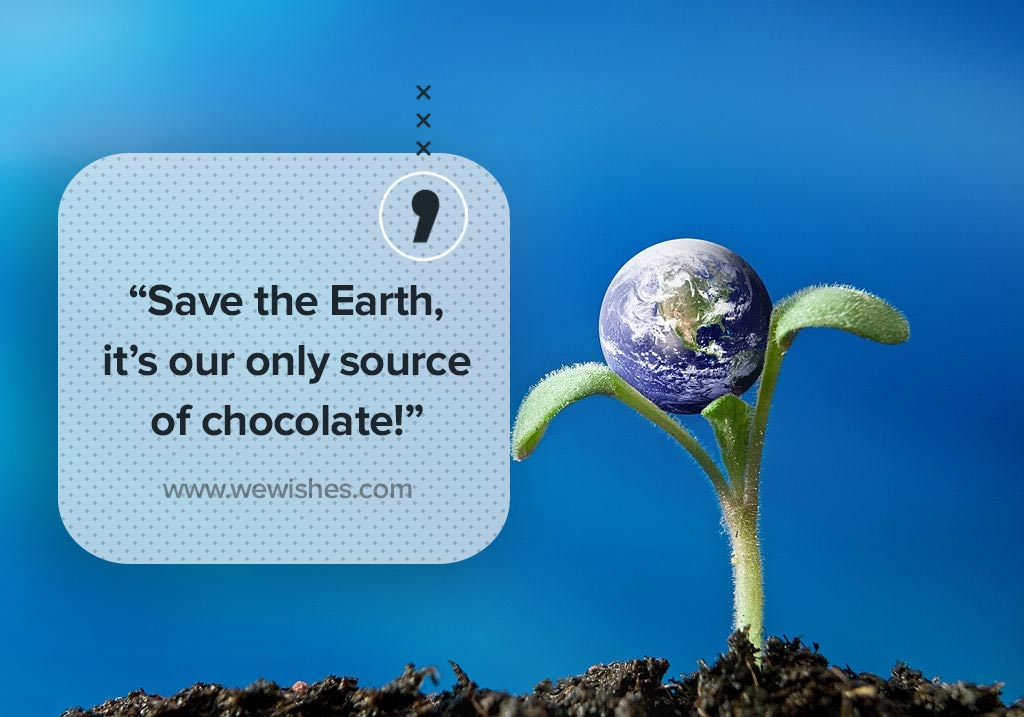 Save the Earth, Quote