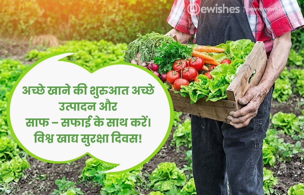 World Food Safety Day Quotes In Hindi