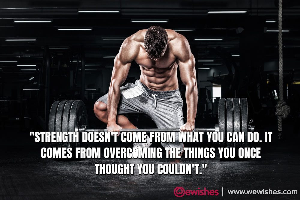 gym quotes for him