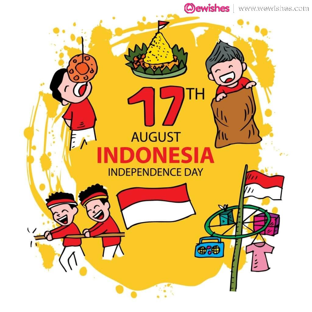 Happy Indonesia Independence Day, Poster, Quotes, Wishes