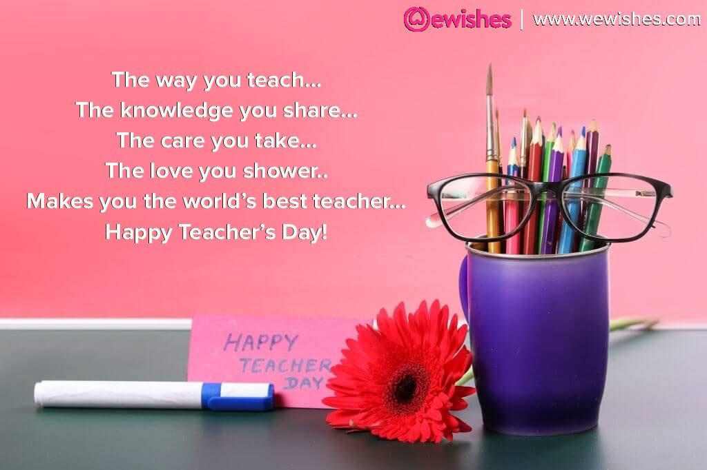 Happy Teacher's Day Card Messages
