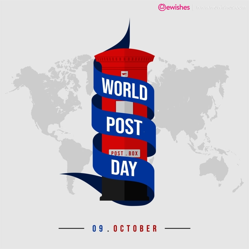 World Post day Poster