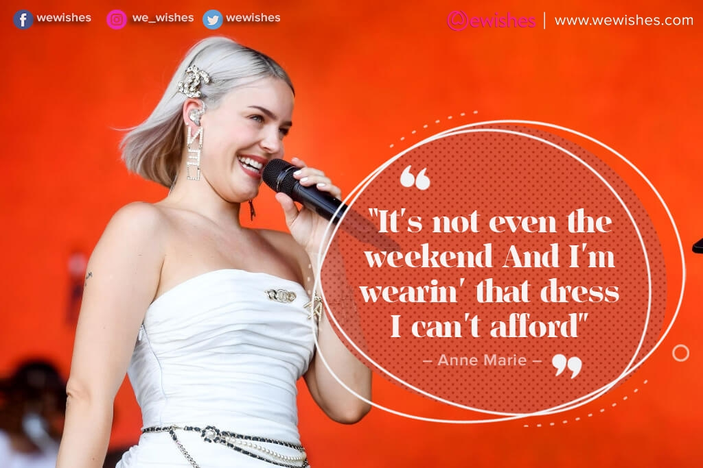 Anne Marie pic quote